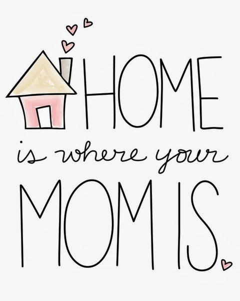 Home is where your Mom is.