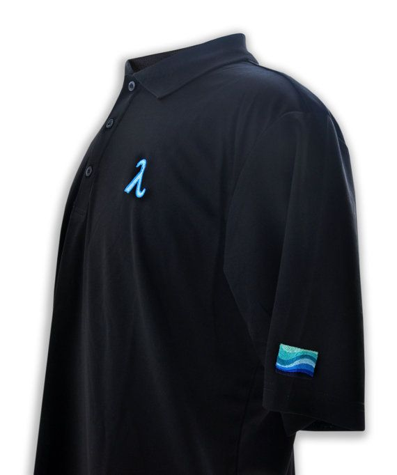 Polo Embroidered With Lambda Symbol & Abstract by LGBTspecialties, $29.95