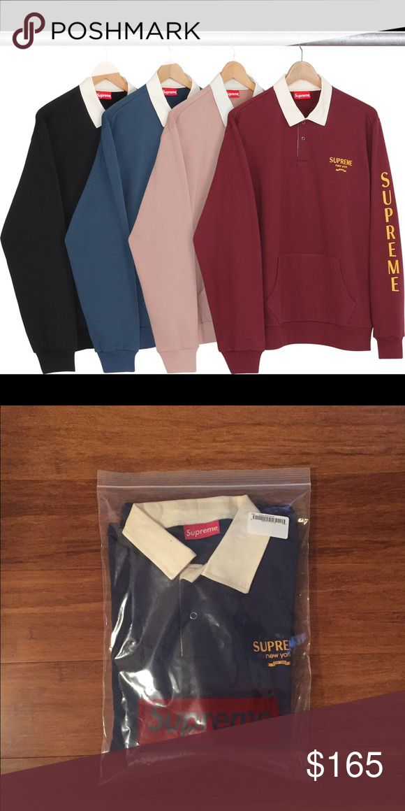Rugby sweatshirt SUPREME Brand new still in plastic, great for fall and winter Supreme Sweaters Crewneck