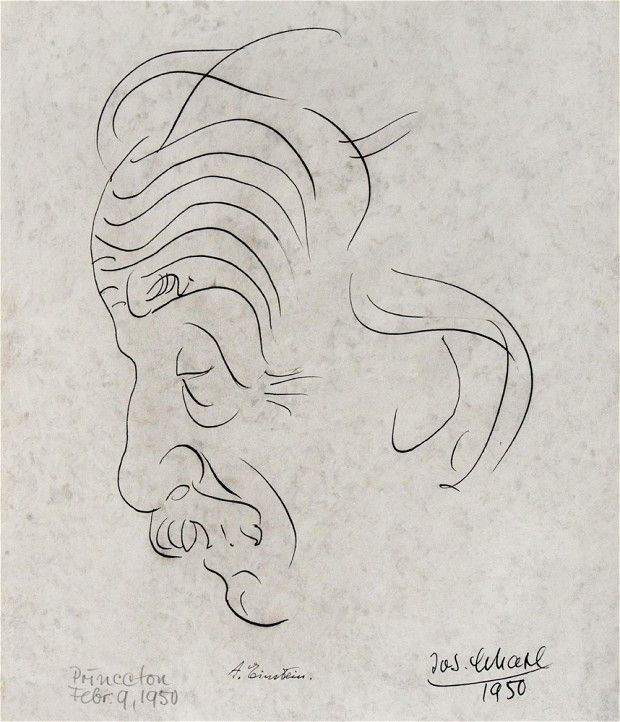 Einstein sketch by friend Josef Scharl to go on sale - A sketch of German physicist Albert Einstein by his friend Josef Scharl is to be seen in public for the first time at an art sale in New York in January.