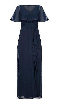 566e4fd52458 Ariella London - Navy 'Amaris' chiffon cape maxi dress | Falconer ...