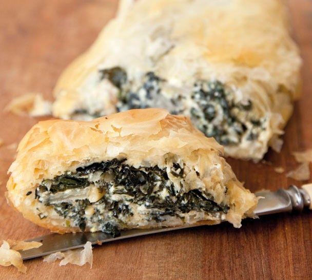 Annabel Langbein Silverbeet, Feta and Pinenut Roll Recipe