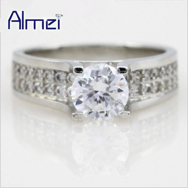 Find More Rings Information about Fashion White Crystal Rhinestone Silver Rings for Women Wedding Band Engagement Charms Jewelry Anillos de Plata Wholesale Y006,High Quality ring,China ring finger Suppliers, Cheap ring dvd from Almei Jewelry Store on Aliexpress.com