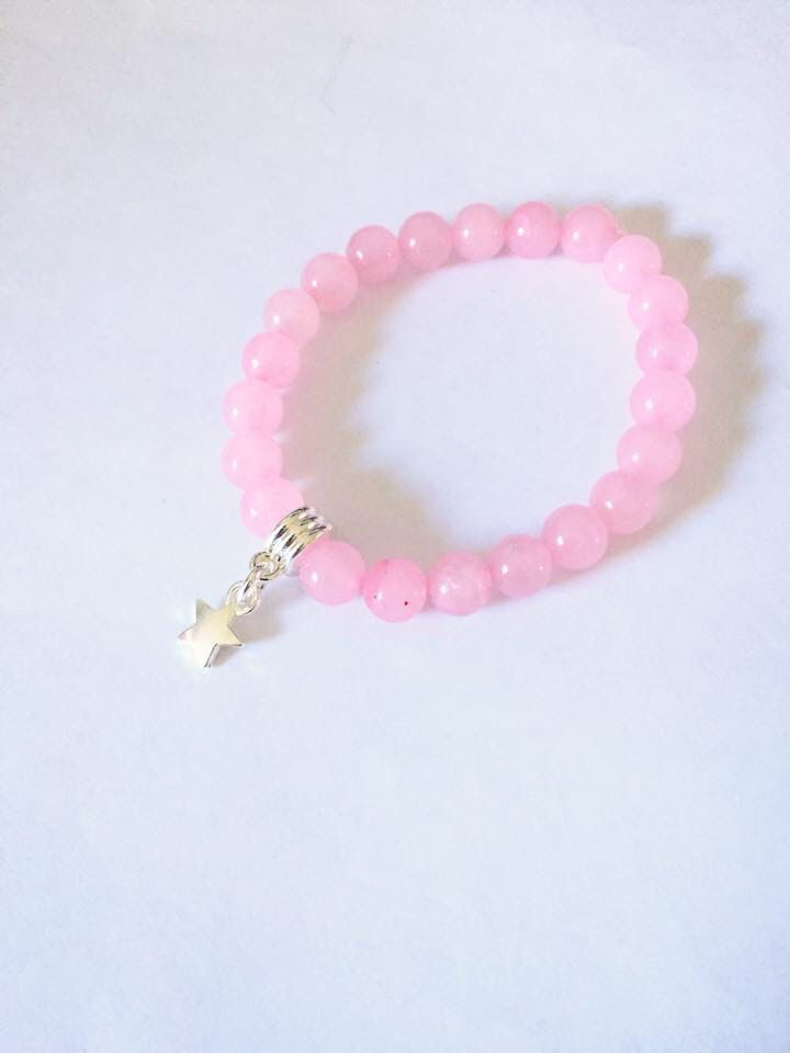 Rose Quartz bracelet commission for the lovely amanda #rosequartz #holistic #star #bracelet xx