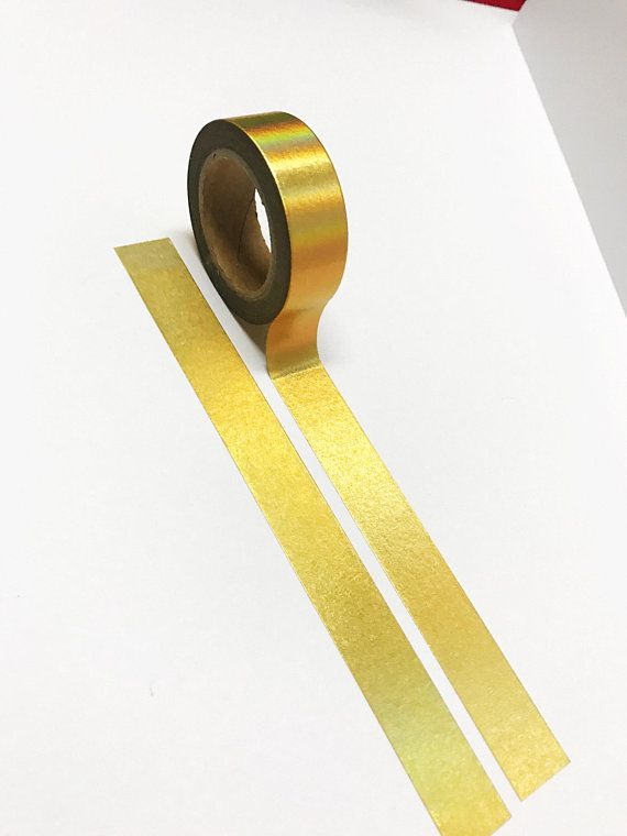 Washi Tape for crafts /& decoration metallic gold 15mm x 10m roll