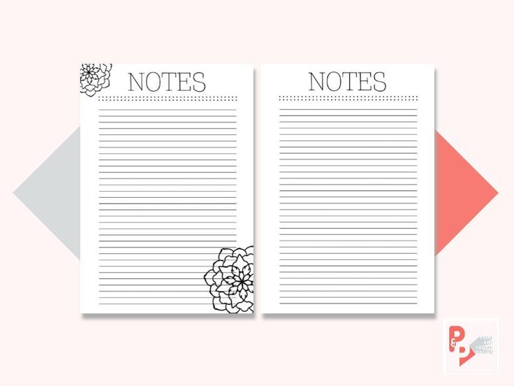 NOTES A5 Planner Inserts, Printable Planner, A5 Planner