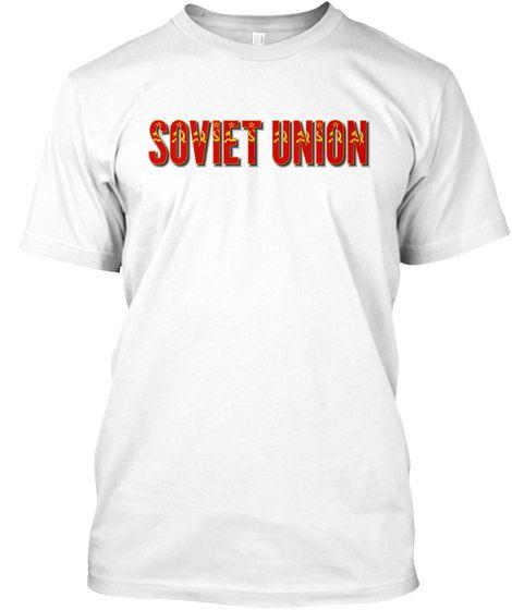 Soviet Union flag font Tshirt