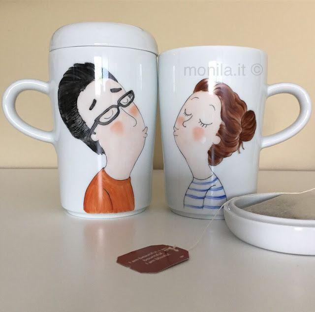 Monila handmade,tea,the,tisana,relax ,dipinto a mano ,teatime,love