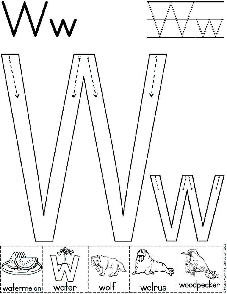 Alphabet Letter W Worksheet