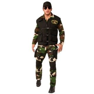 Rubies Seal Team 3 Military Costume Army Party - XL