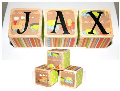 16 best personalized baby gifts images on pinterest personalized train decor personalized baby blocks name by nurserytimeblocks negle Gallery