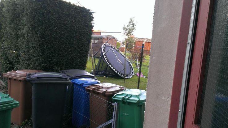 """""""But my trampoline is now next door! #storm"""