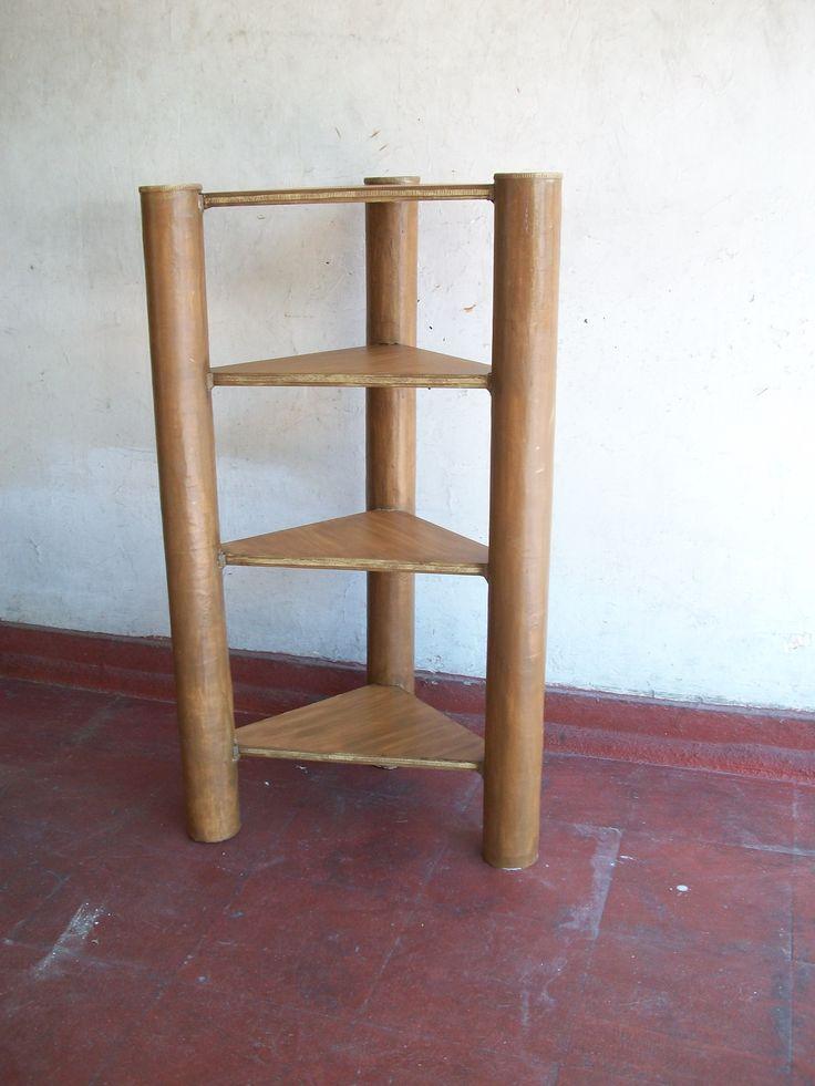 M s de 1000 ideas sobre proyectos de rollos de madera en for Mesa esquinera madera