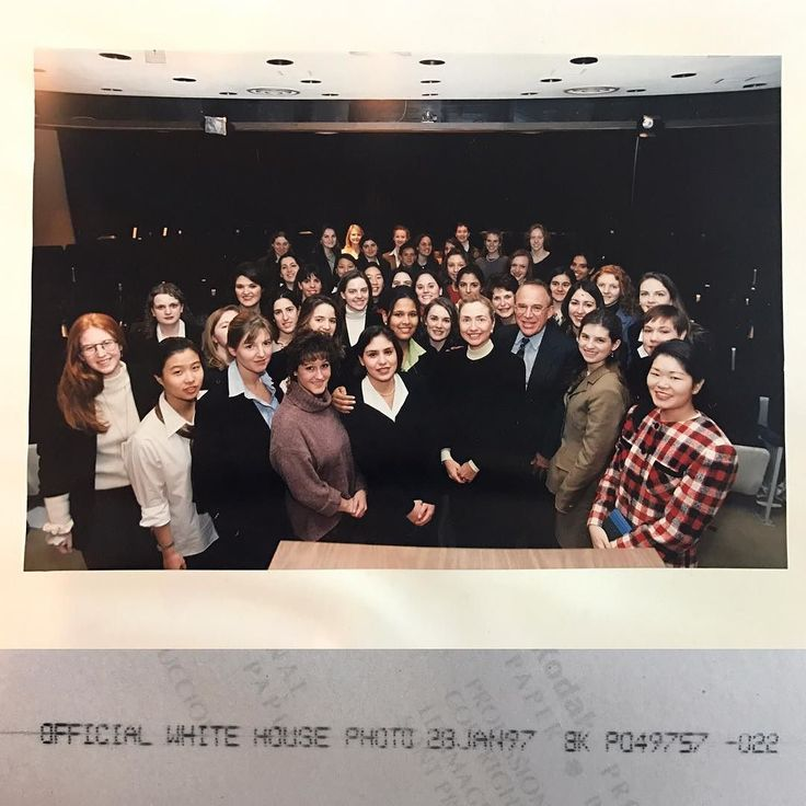 I went to my basement this afternoon looking for something (I can't even remember what it was) and I ended up going through some old boxes and found this picture. I knew I had it somewhere and had been looking for it for a long time and gave up. Anyway there it is the picture with Hillary Clinton during Alan Schecter's trip while at Wellesley College January of 1997. I love how the back confirms this is an official White House photograph. . . .#hillaryclinton #imwithher #memories #whitehouse…
