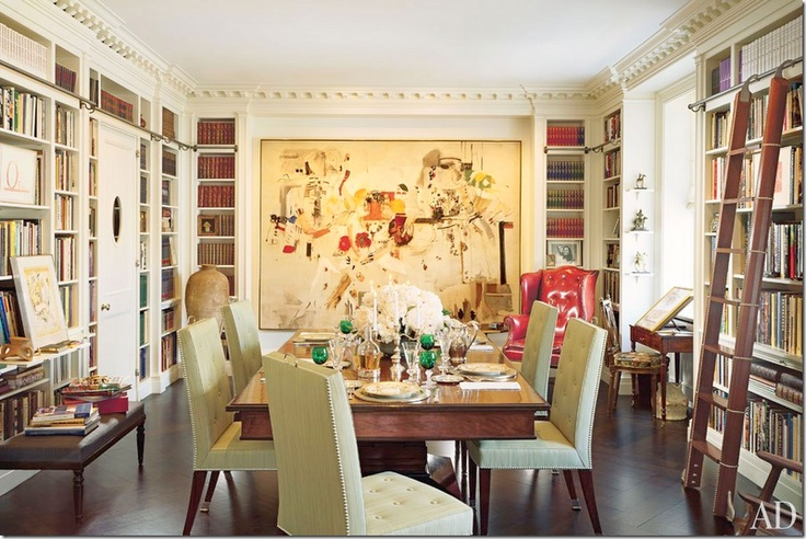 A Combination Dining Room Library Is A Good Use Of Space