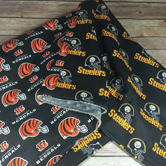 NFL Football Cincinnati Bengals vs Steelers blanket. Choose your teams, colors, and customization by SewSewU