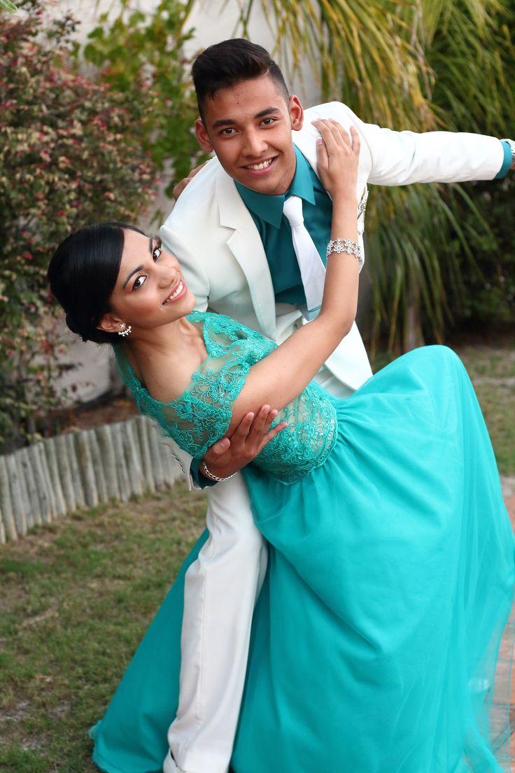 Matric dance cute pose. Prom