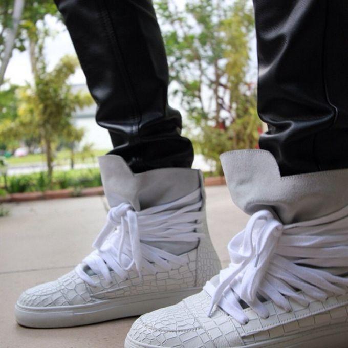 ef98daa30764d0 The 25 Best Sneaker Photos on Instagram This WeekKris Van Assche White Croc Multi  Lace High