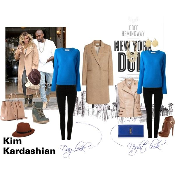 Celebrity style- Kardashian by malirybka1989 on Polyvore featuring Equipment, H&M, Witchery, J Brand, MICHAEL Michael Kors, Call it SPRING, Tod's, Yves Saint Laurent, GUESS by Marciano and Jennifer Meyer Jewelry