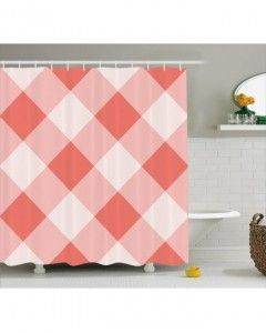 Coral Shower Curtain Vintage Old Fashion Art Print For Bathroom