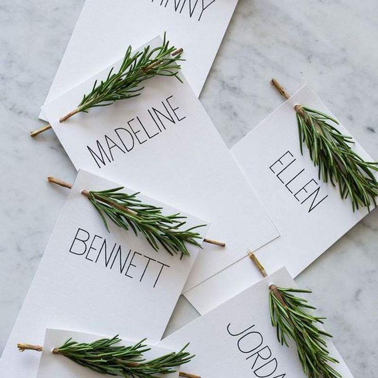Tarjetas para comensales en Navidad, 10 ideas.