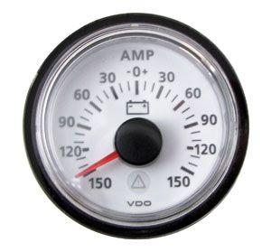 En oferta Reloj Amperimetro Blanco ViewLine VDO Escala -150 / 0 /+150