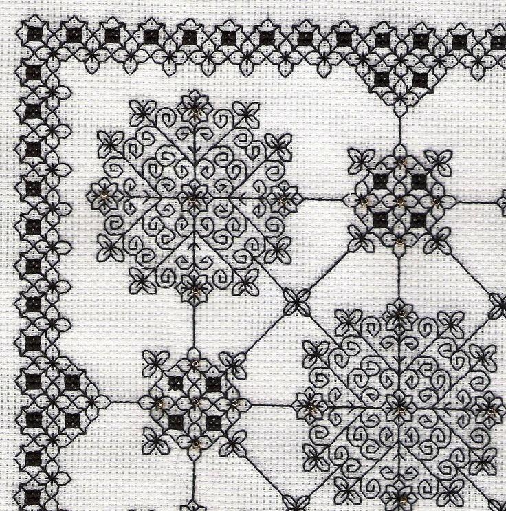 Simplicity - blackwork design by Liz Almond of Blackwork Journey