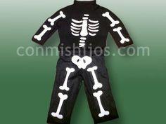 Disfraz de esqueleto. Manualidades para Halloween