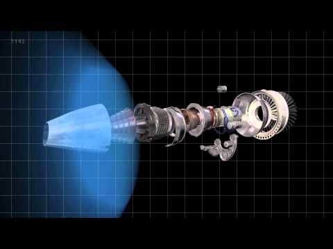 A short animation of the GE TF-134 turbo fan engine.