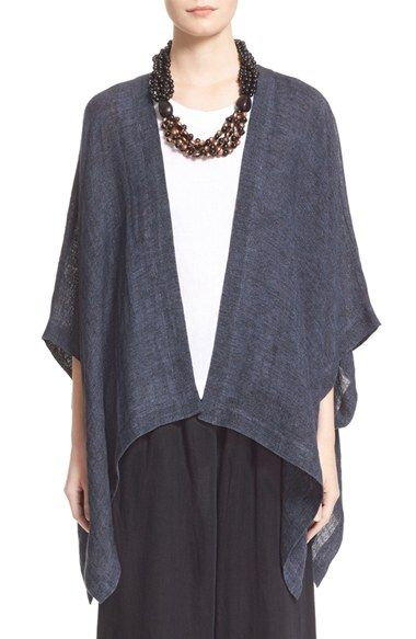 Free shipping and returns on eskandar Drape Front Délavé Linen Blend Tabard Vest at Nordstrom.com. Dyed and then washed for a faded look and ultrasoft hand, délavé linen lends gauzy texture to this loosely draped A-line tabard vest designed as an effortless layering piece.