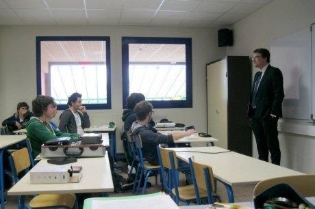 A la rencontre des élèves du lycée Jean Monnet, à Libourne