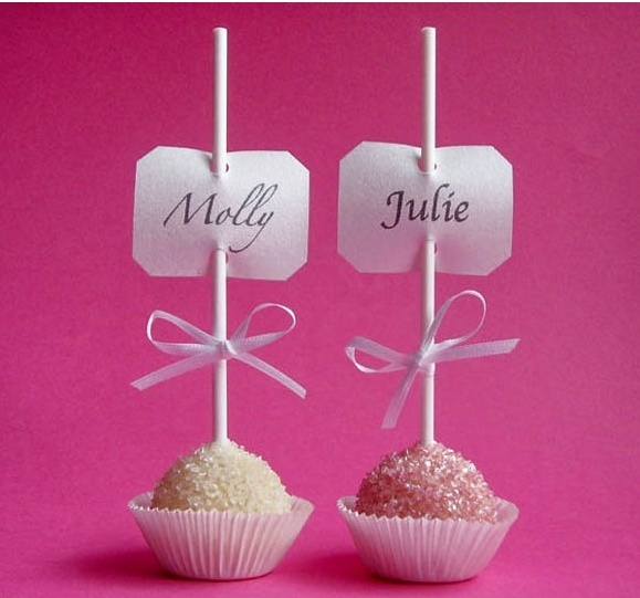 table tags. wedding. candies.