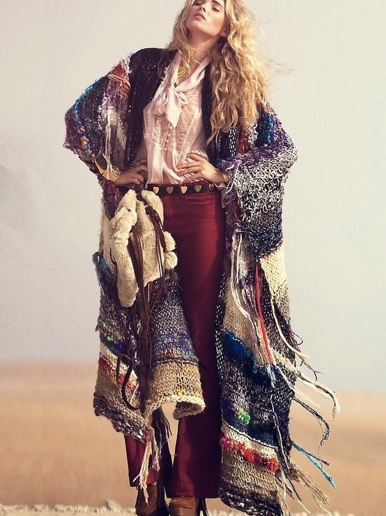 i love wearing blankets as coats. this one looks cool with the tassels