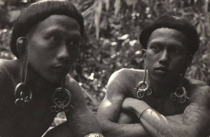 "Borneo . ""Young Iban warriors""   1970s.