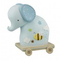 Children's Money Box - Blue Elephant - Available now on Becky and Lolo