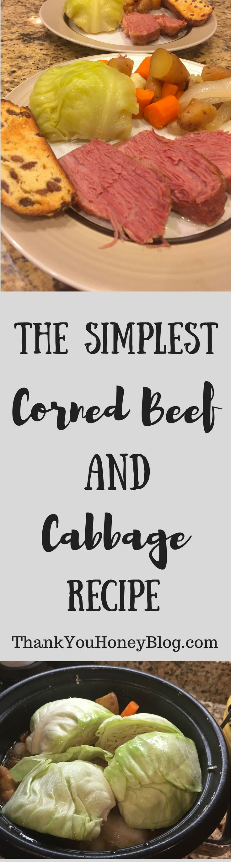 The Simplest Corned Beef and Cabbage Recipe perfect for St. Patrick's Day. Slow- cooked and packed with flavor. #recipe #paleo #whole30 #cleaneating #stpatricksday