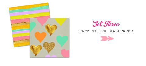 eatdrinkchic.com iphone wallpaper set 3. big hearts on the stripe!