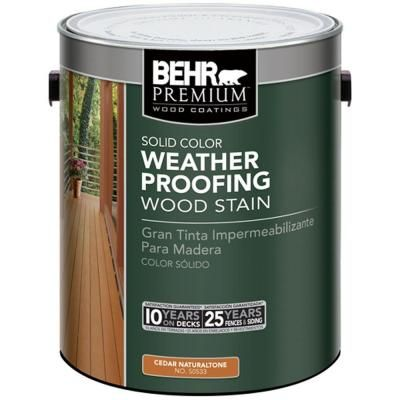 Behr Premium 1 Gal Cedar Naturaltone Solid Color Waterproofing Stain Sealer Wood Stain And Behr