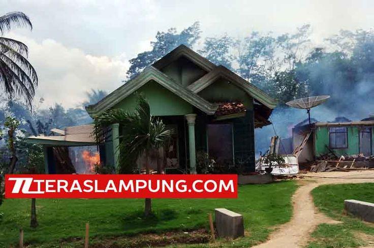 Teras Lampung: Amuk Massa di Desa Sukadana Ilir Dipicu Tewasnya Warga, 24 Rumah Ludes Dibakar