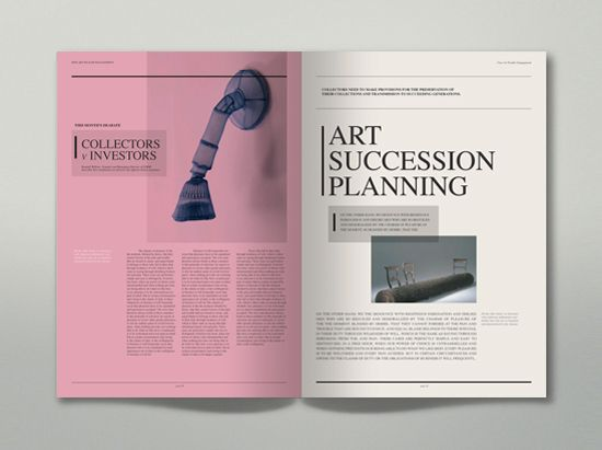 Fine Art Wealth Management - Corporate Brochure by Mario Antoniou, via Behance