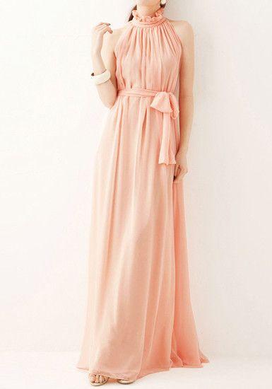 Glam Chiffon Maxi Dress @LookBookStore