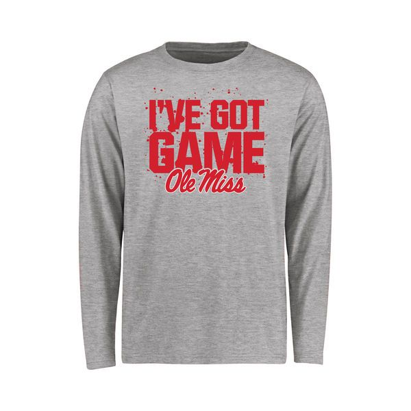 Ole Miss Rebels Youth Got Game Long Sleeve T-Shirt - Ash - $21.99
