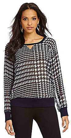 TWO by Vince Camuto Houndstooth Sweatshirt