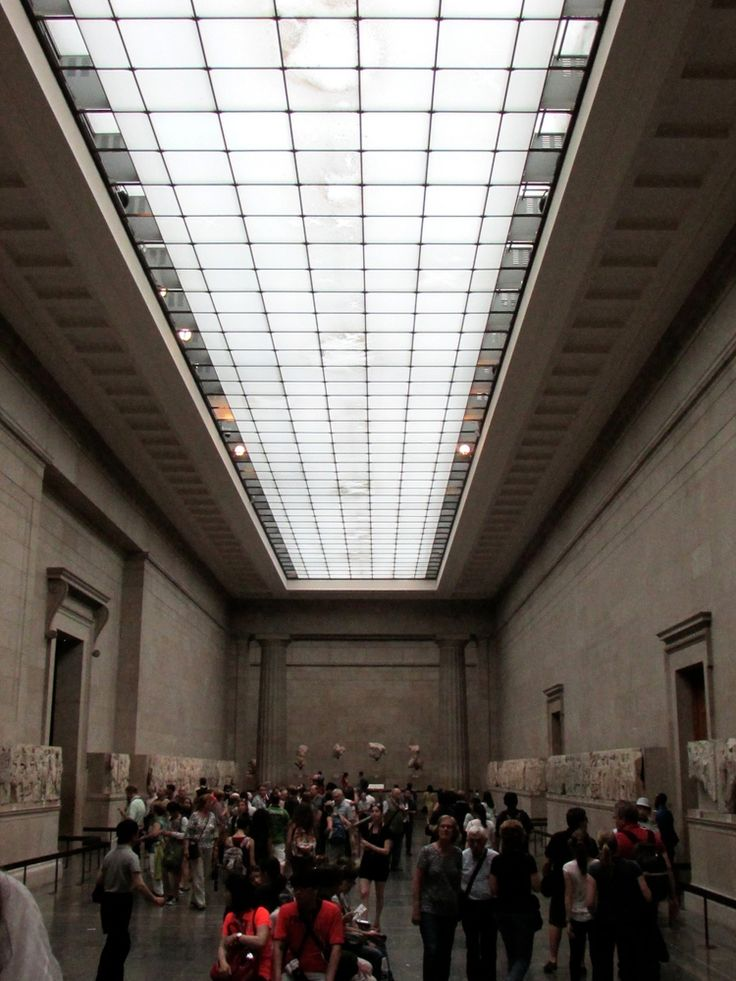 The room that holds the Elgin Marbles at the British Museum via The Anthrotorian