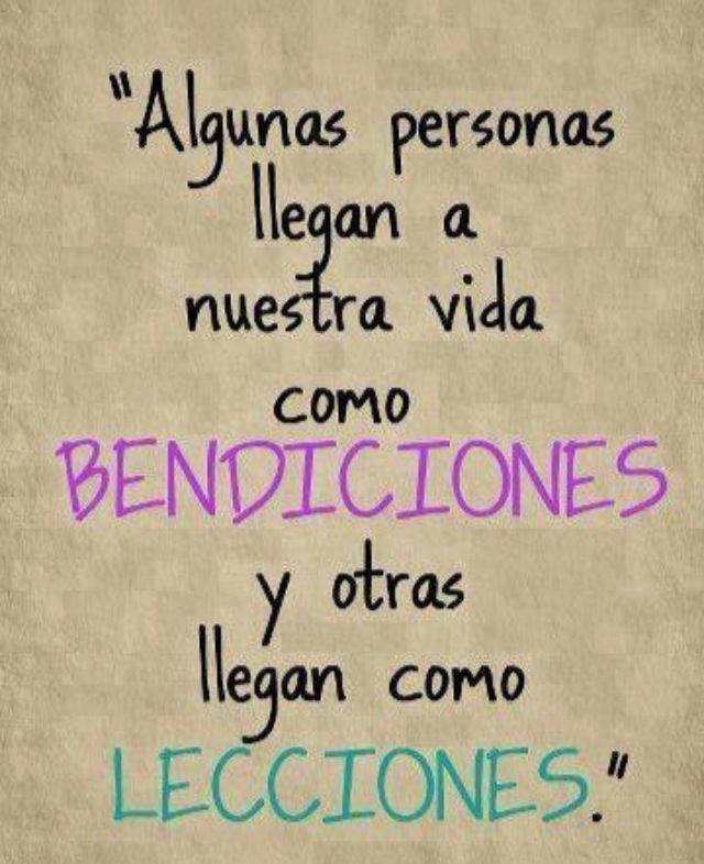 """""""Algunas personas llegan a nuestra vida como bendiciones y otras llegan como lecciones"""". #Citas #Frases #Candidman"""