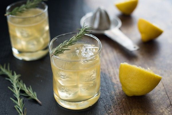 Lemon & Rosemary Bourbon Sour: This herb-infused whiskey drink from Foxes Love Lemons is perfect for the winter months!