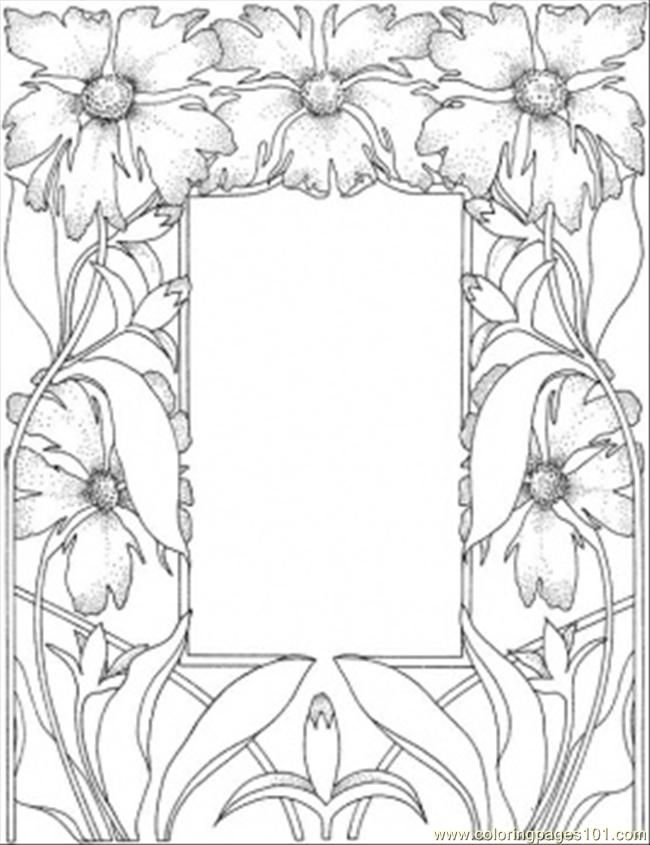 picture frame -wood burning template
