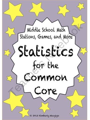 BUNDLE Statistics Math Stations for Common Core Sixth Grade from The Math Station on TeachersNotebook.com (50 pages)  - This is a GREAT bundle of middle school math games and activities. Including directions for you and your students, it is perfectly tailored for use in math station rotations.