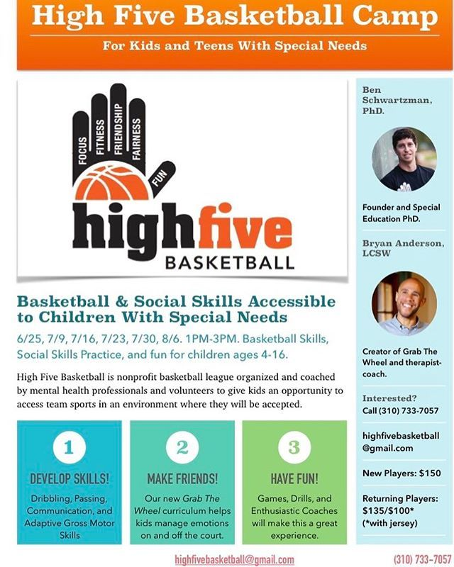 I am running a Summer Basketball Camp for kids with Autism in Santa Monica, CA!  Ages 5 and up.  Adolescents and Adults welcome! DM me for details! #autism #aspergers #earlychildhoodeducation #basketball #summercamp