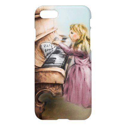 iPhone vintage case - Piano Girl - girl gifts special unique diy gift idea